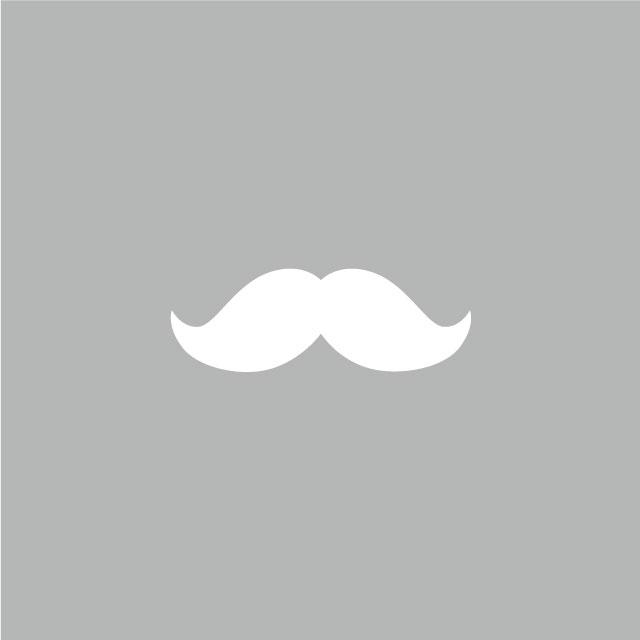 ひげ(アイロン転写用、色:ブラック)
