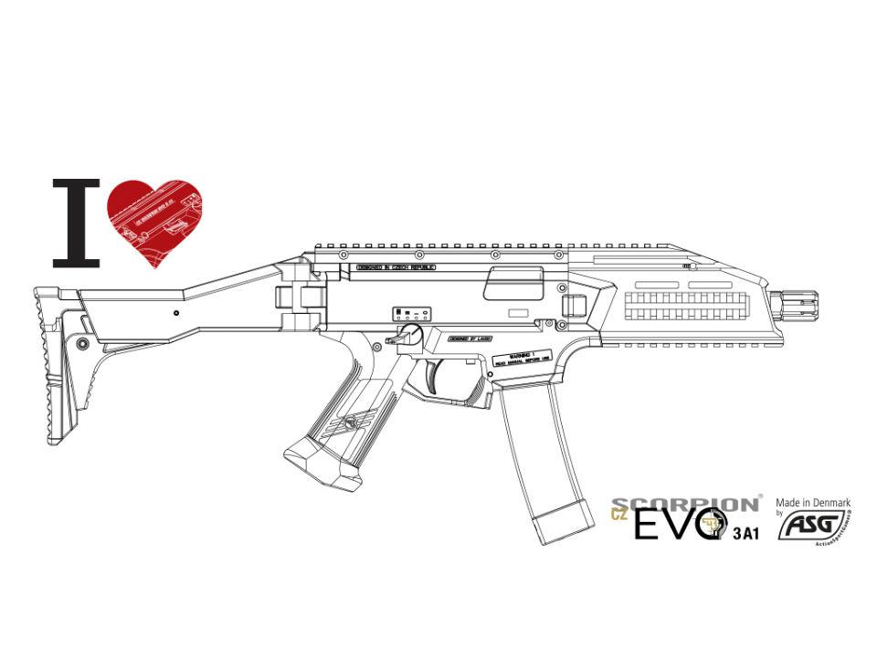 ASG スコーピオン CZ EVO3 A1 新型ECU ブラック 電動ガン