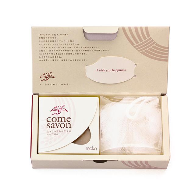 【ギフト】COME SAVON 白+洗顔ネットセット
