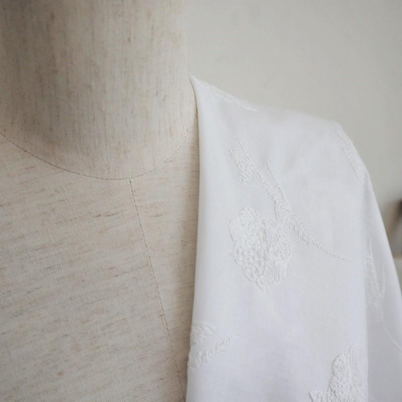 音の絵<ぼあーんぼあーん> 綿キャラコ オフホワイト/パールピンク/ペパーミント/ベージュ/ブラック