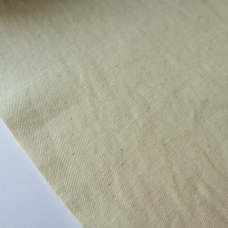 石井織物 八重蔵さんの綾織(ギャバ) 洗い晒加工 生成