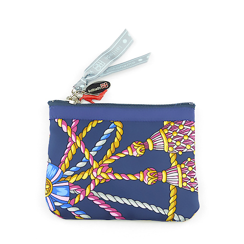 Key Coin Pouch(Navy Tassel)