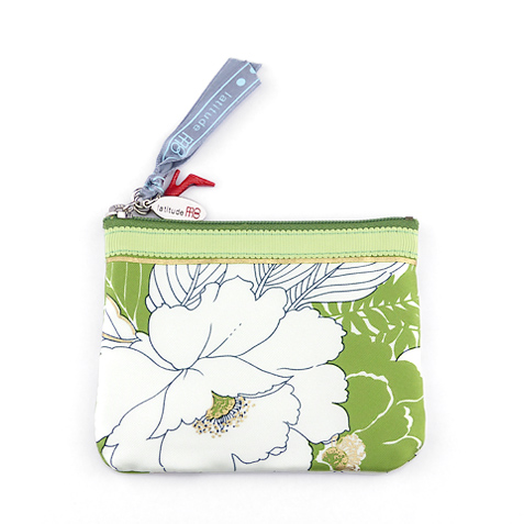Key Coin Pouch(Green Flower)
