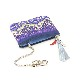 Key Coin Pouch(Purple Paisley)