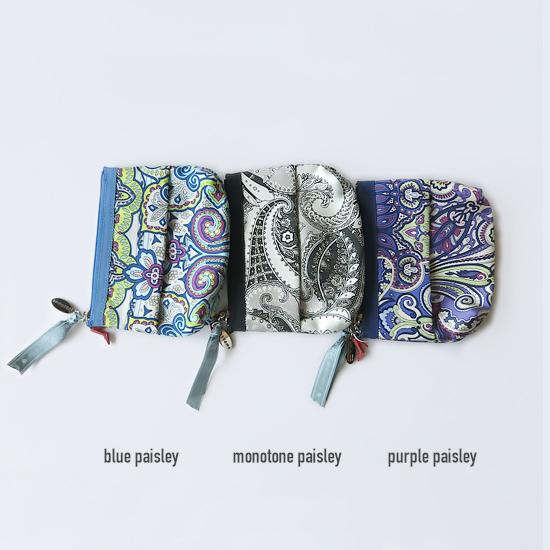 Tissue Pouch(Monotone Paisley)