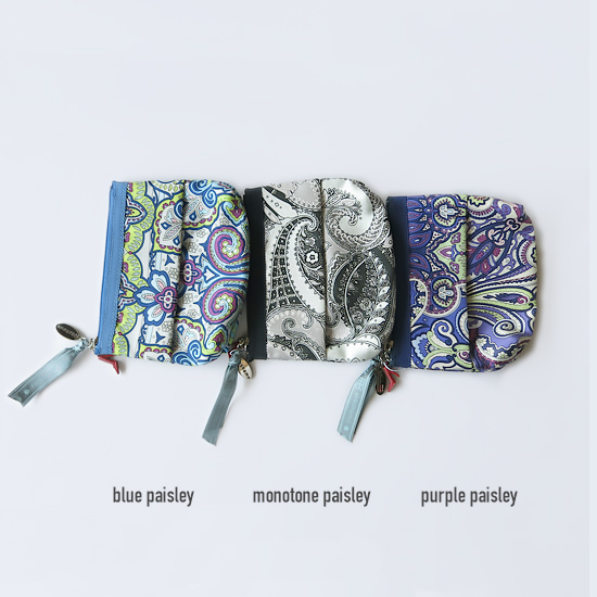 Tissue Pouch(Purple Paisley)