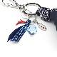 Key Charm(Blue Paisley)