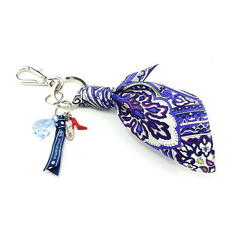 Key Charm(Purple Paisley)