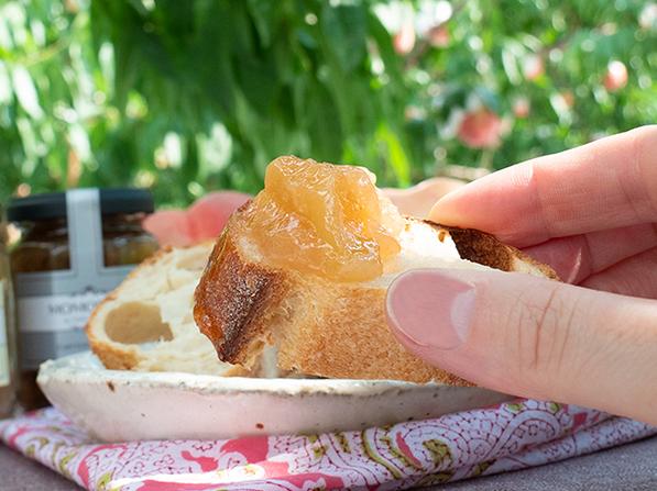 春日居の桃バウムラスクとジャムセット