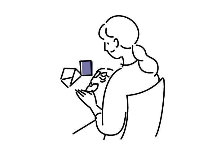 (六月八日)ポストカード(キタキツネとオオカメノキ)