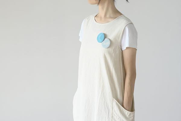 (tenp02 福島の刺子織)ブローチ