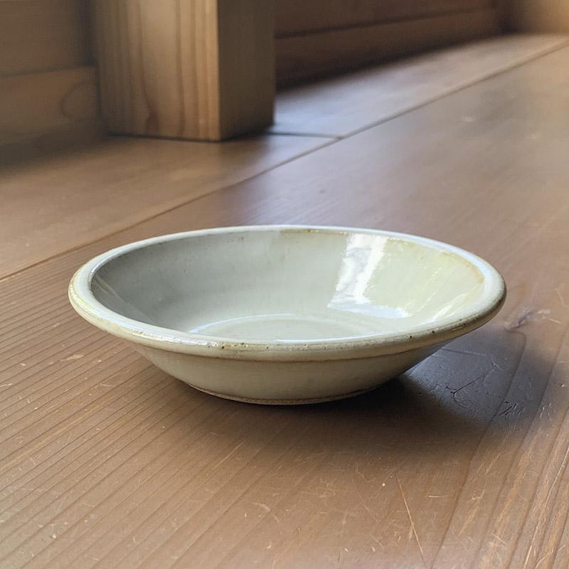 (三温窯)平丸皿(白釉)