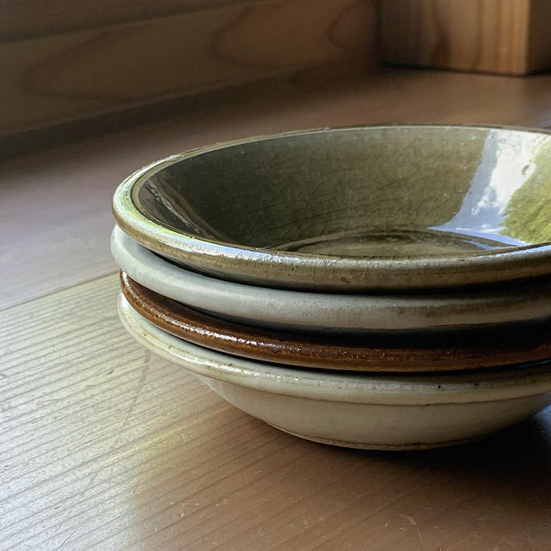 (三温窯)平丸皿(灰釉)