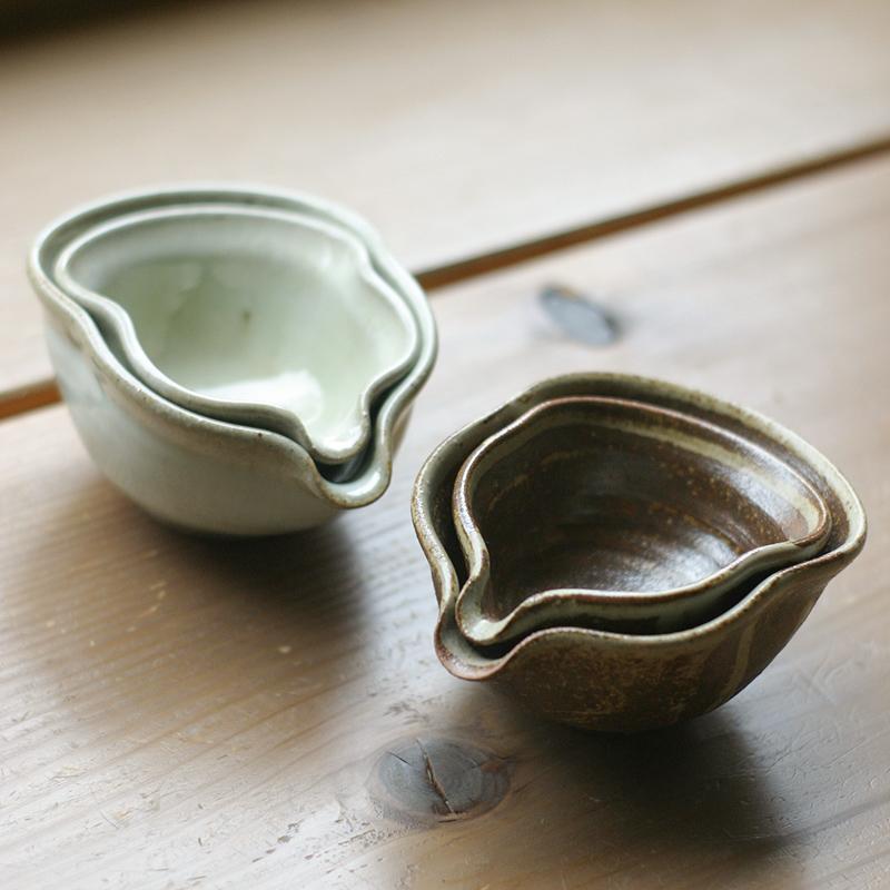 (三温窯)湯冷し(鉄灰釉)