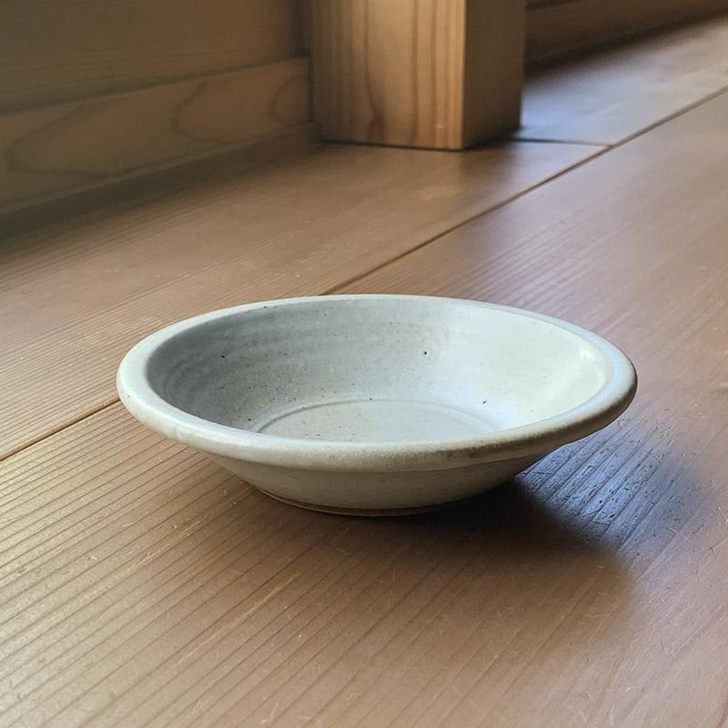 (三温窯)平丸皿(ケヤキ釉)