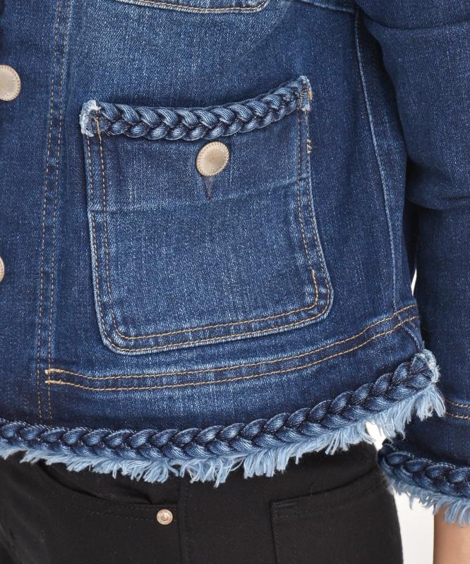 ブレイド(三つ編み)ジーンジャケット