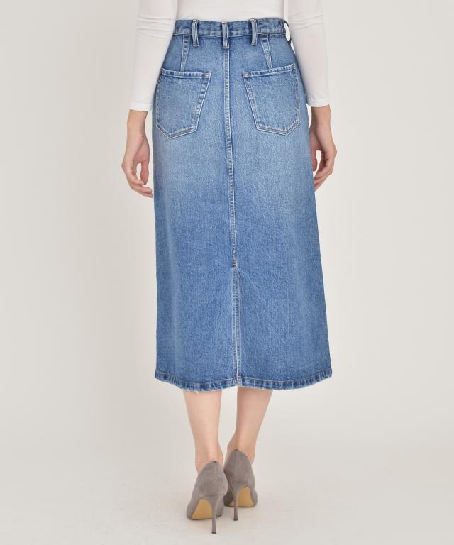Aラインデニムスカート
