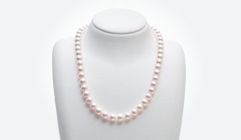 あこやオーロラ天女本真珠(パール)ネックレスセット(7.5-8.0mm)