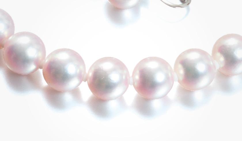 あこやオーロラ天女本真珠(パール)ネックレスセット(8.5-9.0mm)