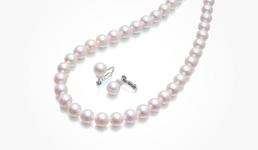 あこや本真珠(パール)ネックレスセット(7.5-8.0mm)