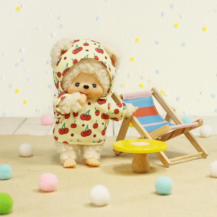 【予約商品】【当店限定】モンチッチ フレンズ I LOVE パーカー チャム(さくらんぼ) Sサイズ