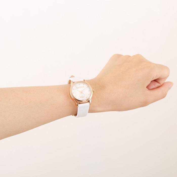 【予約商品】モンチッチちゃん 腕時計セット(ホワイト&ピンクゴールド)