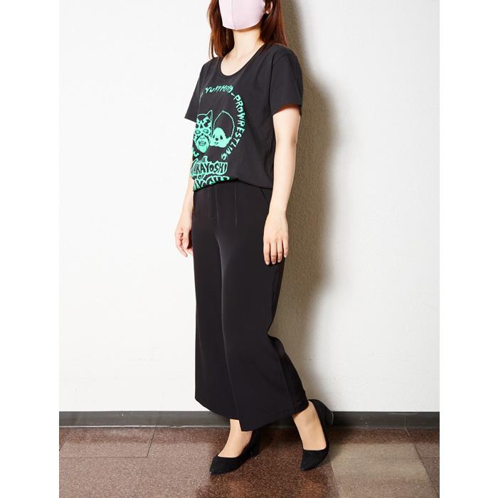 NAKAYOSHI OF KOYOSHI UネックTシャツ/レモン