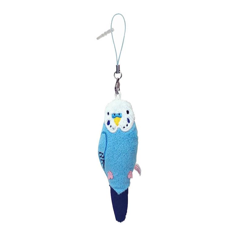 【ネコポス可】コトリコレクション セキセイインコ クリーナーマスコット ブルー
