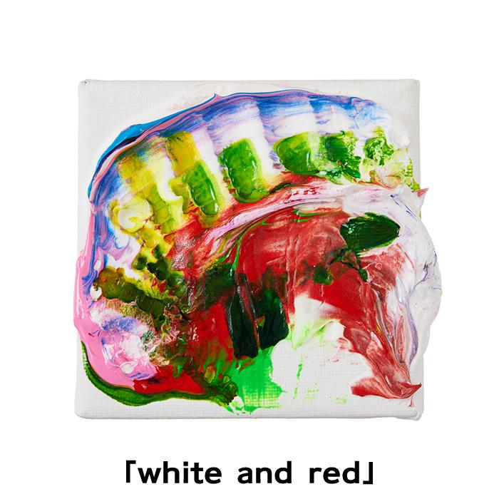 杉田陽平コラボ アートなモンチッチちゃん 「white and red」