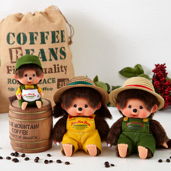 Mon Mon Farm コーヒー モンチッチ 顔でかSSキーチェーン 男の子