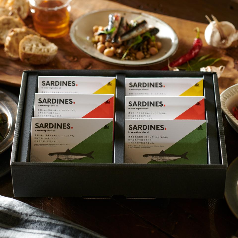 【予約注文2020年10月20日以降の発送】 オイルサーディン6缶セット