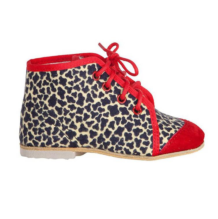 タイガーオリジナル 紐靴 赤