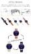 jaybee Line/ジェイビーライン 38mm ローズゴールドケース ムーンフェイズ機能搭載 アベンチュリンダイヤル ローズメッシュストラップ