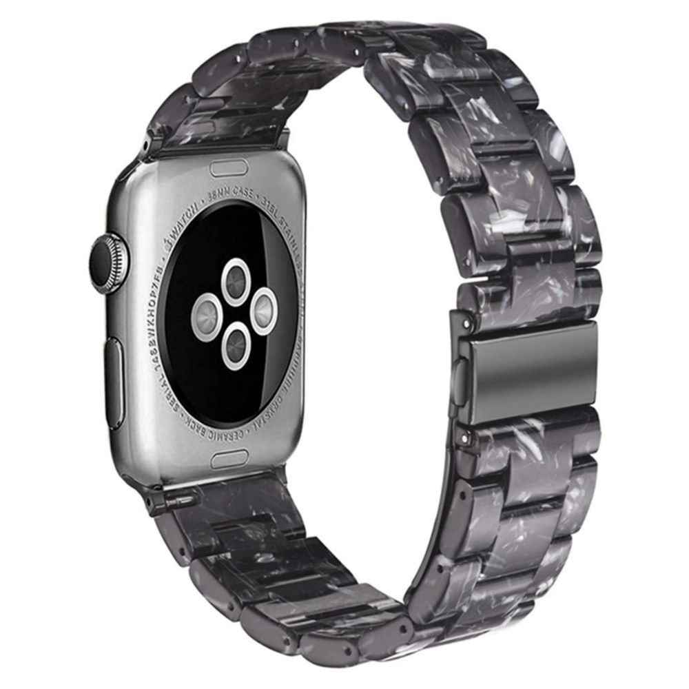 38/40mm Apple Watch 交換用ベルト フラッシュブラック 【代引き不可・追跡可能メール便】