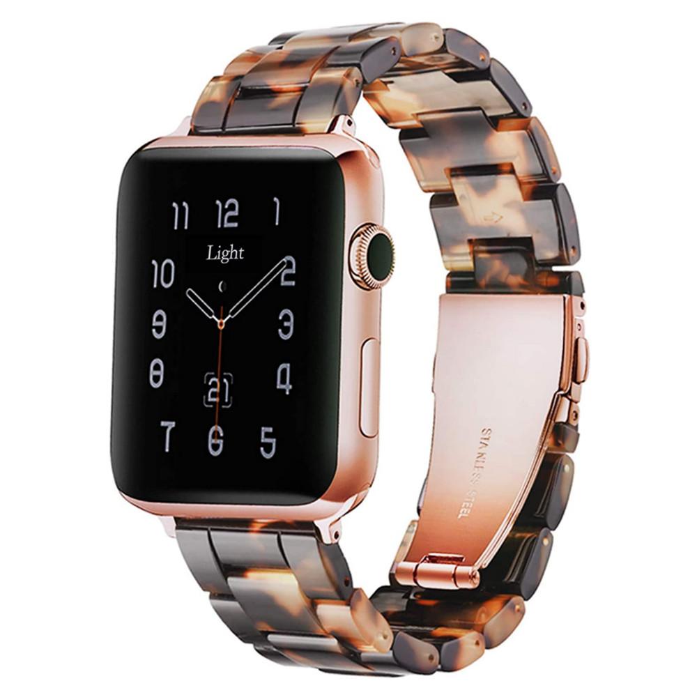42/44mm Apple Watch 交換用ベルト トータスブラウン 【代引き不可・追跡可能メール便】