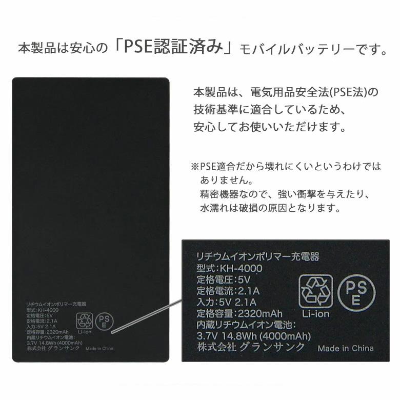 【PSE適合品】 まる子とコジコジ 急速充電 USB出力 リチウムイオンポリマー充電器 2.1A 4000mAh