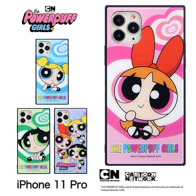 パワーパフ ガールズ iPhone 11 Pro 対応 スクエアガラスケース