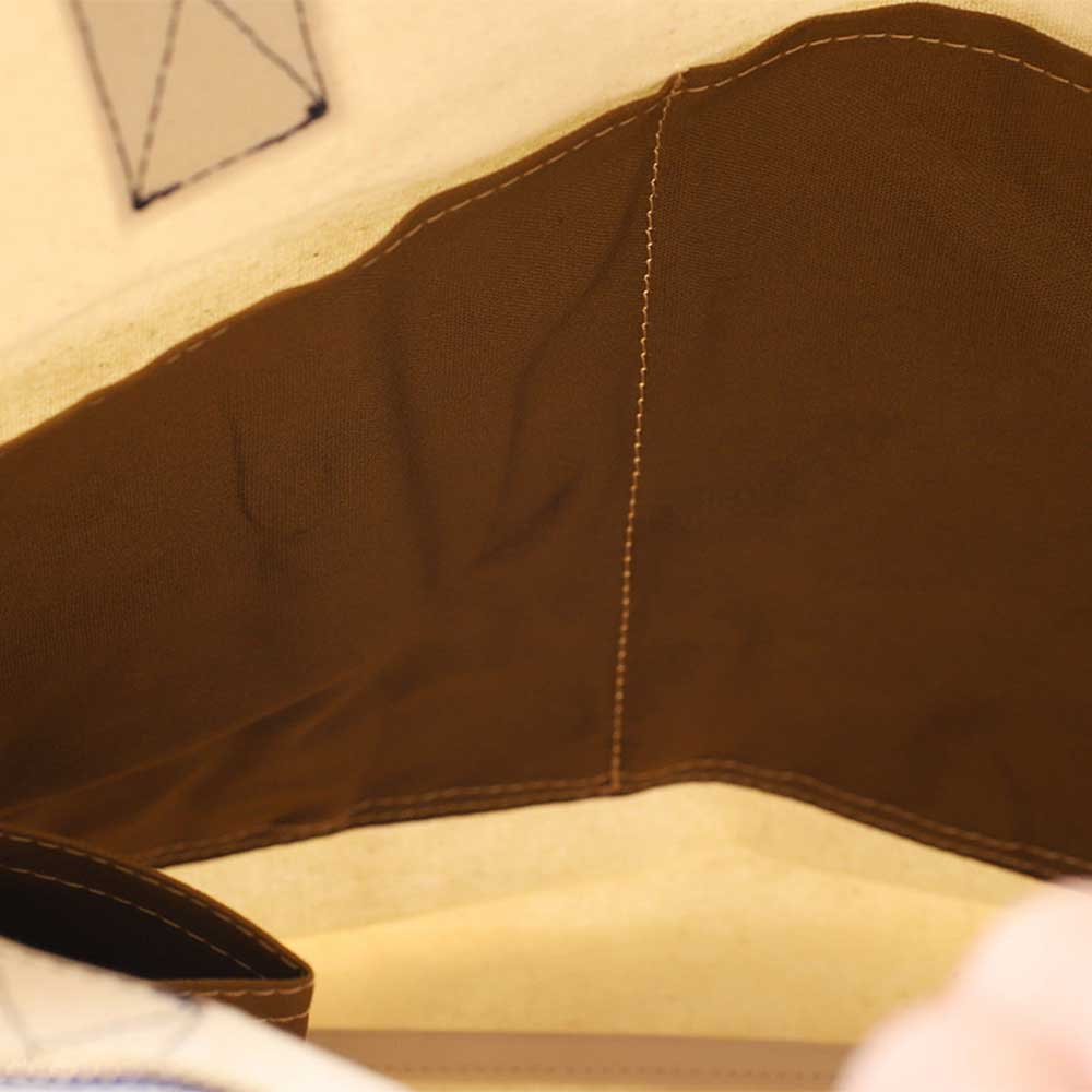 acoustic world アコースティック・ワールド stitch ステッチ 縦型 トートバッグ 日本製 本革 帆布 キナリ aw01901-BE