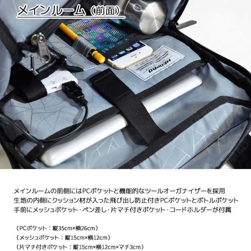 エンドー鞄 NEOPRO CONNECT ネオプロ コネクト ビジネスバッグ ThinPack リュック クロ 2-773-BK