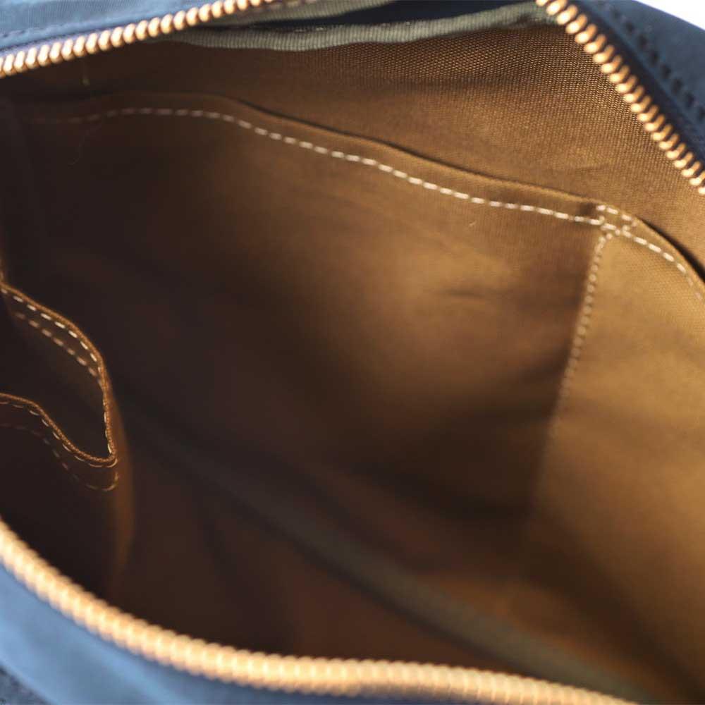 acoustic world アコースティック・ワールド GRANGE グランジ 横型 ショルダーバッグ 日本製 本革 帆布 ブラック aw00803-BK