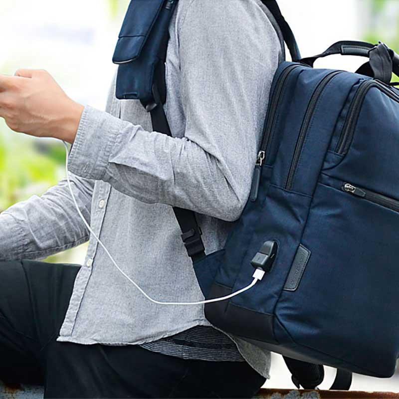 エンドー鞄 NEOPRO CONNECT ネオプロ コネクト ビジネス リュックサック バックパック USBポート ポリカブラック 2-770-PBK