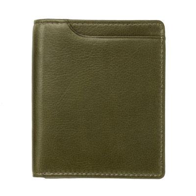 Milagro ミラグロ アニリンカーフ スリム 二つ折り 短財布 ショートウォレット 牛革 オリーブ OH-BP301-OV