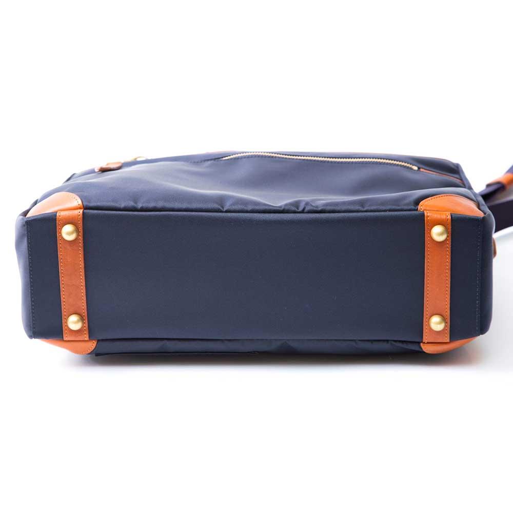 acoustic world アコースティック・ワールド SKYWALK 2way ビジネスバッグ ブリーフケース 日本製 ネイビー×ネイビー awb00101-NV/NV