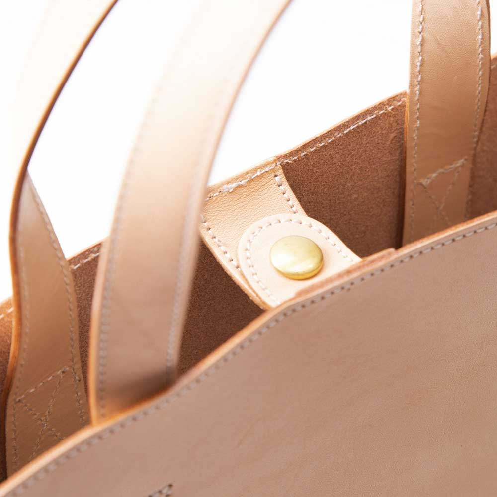 acoustic world アコースティック・ワールド ナチュラルヌメ 縦型 レザー トートバッグ ハンドバッグ Mサイズ 日本製 本革 aw00505