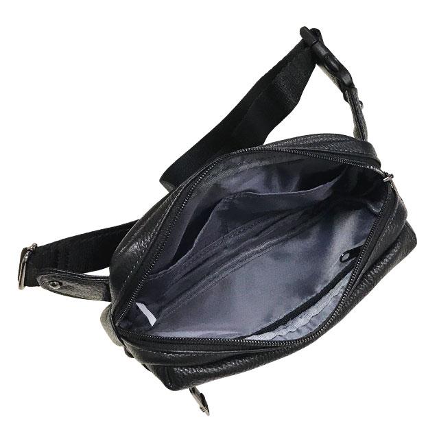 エンドー鞄 FARVIS HOLIDAY ファービス ホリデー レザー ウエストポーチ クロ 4-362-BK