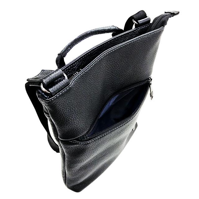 エンドー鞄 FARVIS HOLIDAY ファービス ホリデー レザー 薄マチ 縦 ショルダーバッグ クロ 4-365-BK