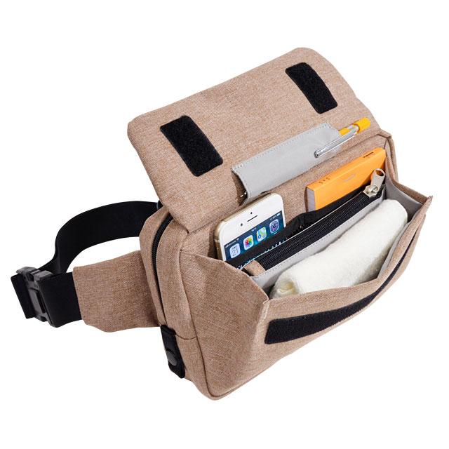 エンドー鞄 FREQUENTER WEEKEND フリクエンター ウィークエンド 2way ウエストポーチ ワンショルダー クロ 4-351-BK