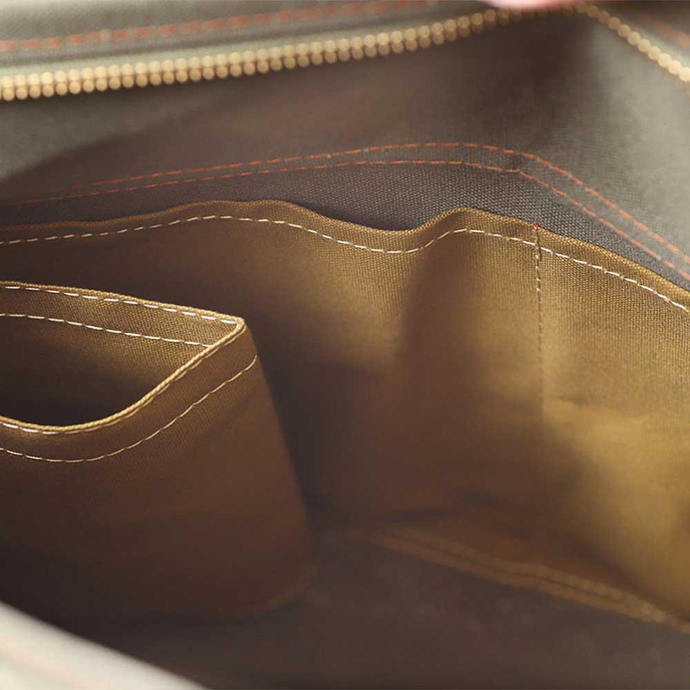 acoustic world アコースティック・ワールド stitch ステッチ フラップ ショルダーバッグ 日本製 本革 帆布 ライトブラウン aw01904-LB