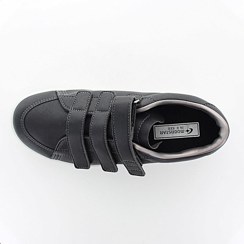 ムーンスター メンズ/レディース リハビリ 介護靴 片足販売 Vステップ07 (左足のみ) ブラック