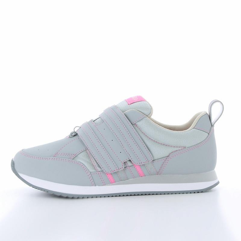ムーンスター メンズ/レディース リハビリ 介護靴 片足販売 Vステップ06(左足のみ) グレイ